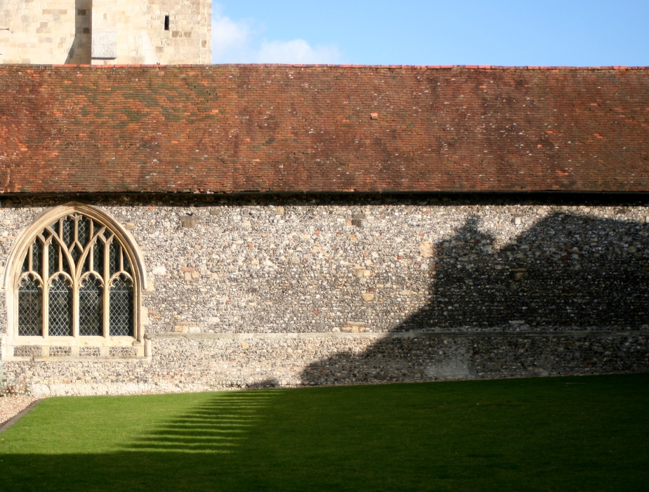 Shadow on Chichester cathedral cloister
