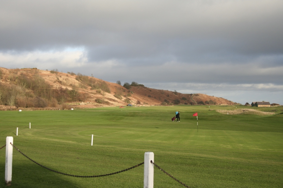 The golf course at Alnmouth in December