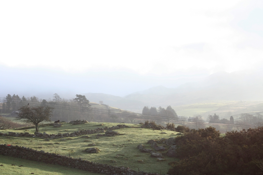 Misty sunrise at Ffestiniog