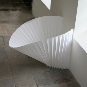 Sally Wakelin pleated paper installation