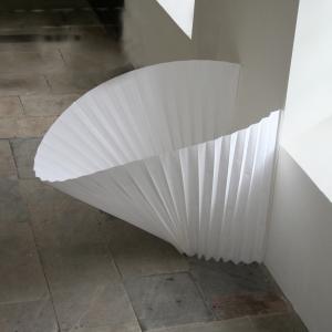 Sally Wakelin pleated paper installation