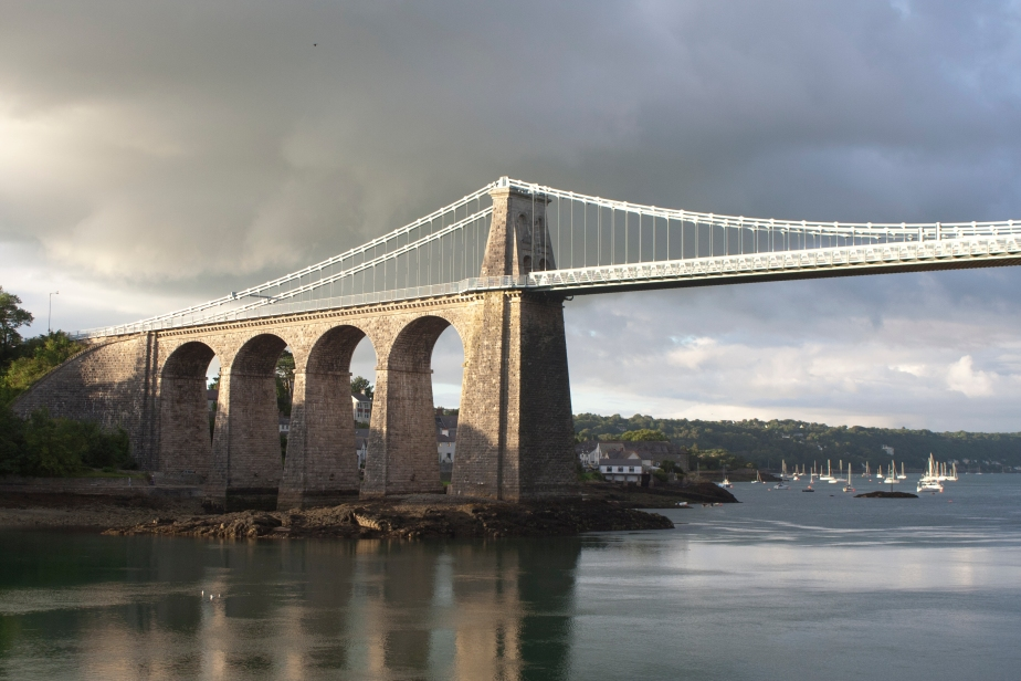 Menai Bridge in the Rain