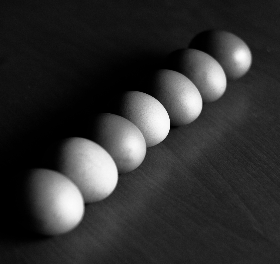 Eggs in a row
