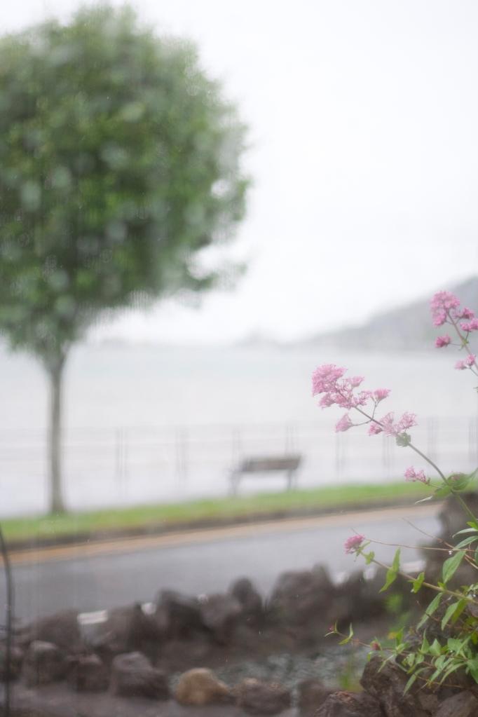 Swansea Bay in the rain
