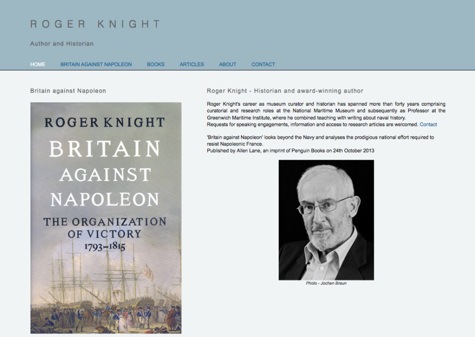 Roger Knight - Home page