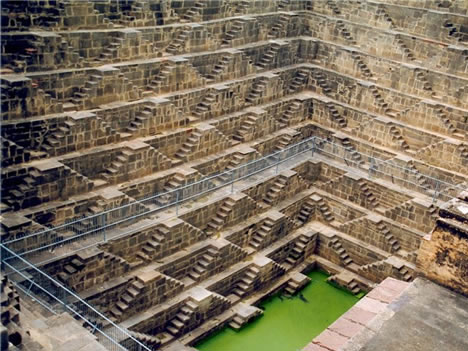 10th century well in Chand Baori, India