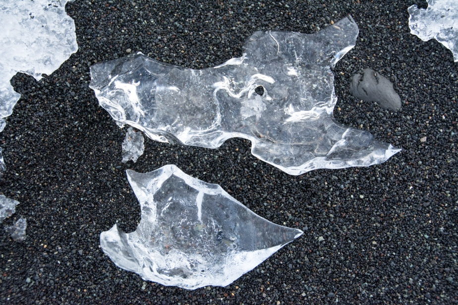 These are compressed ice-floes, glassy and clear not like the snow floes which are granular and melt fairly rapidly.
