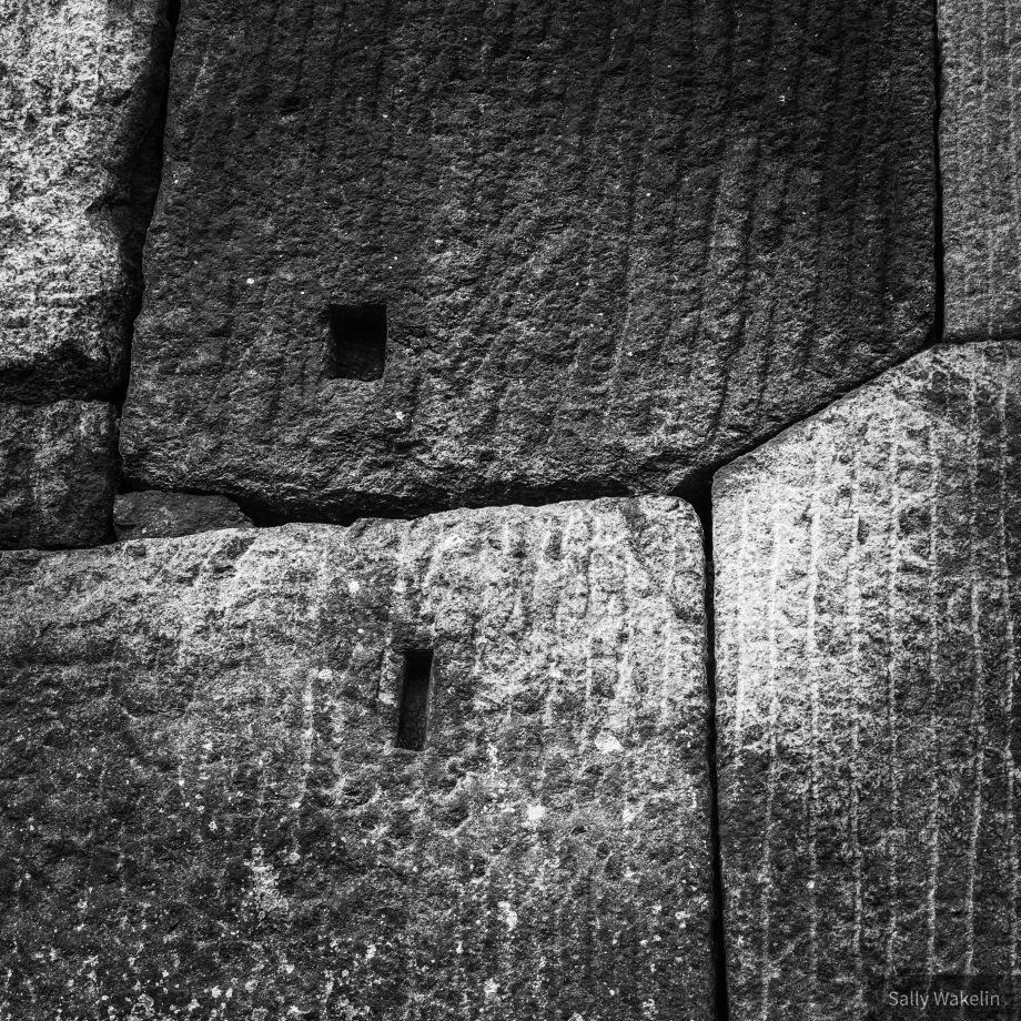 Granite blocks at the Imperial Palace